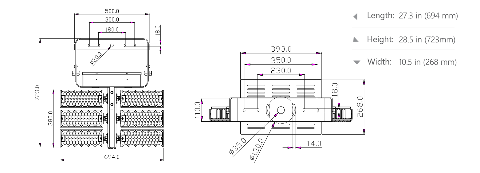 600w 720w LED high mast light size.png