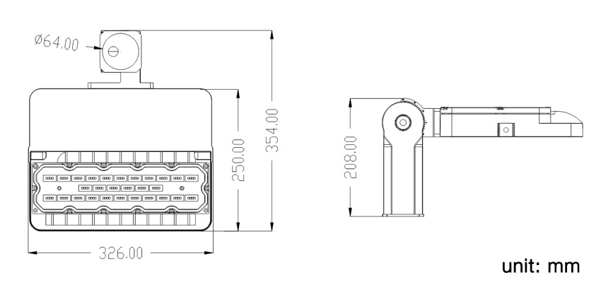 100W led area light size.jpg