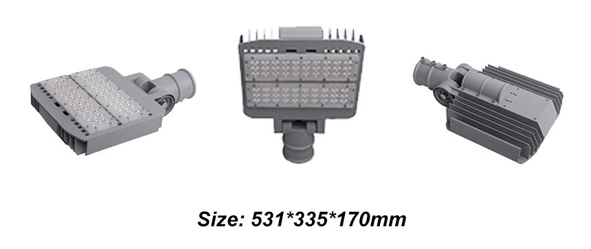 Rotatable 100W LED Street Lights size
