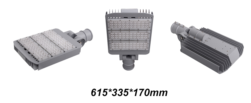 150W Arm Rotatable Meanwell LED Street Lights size