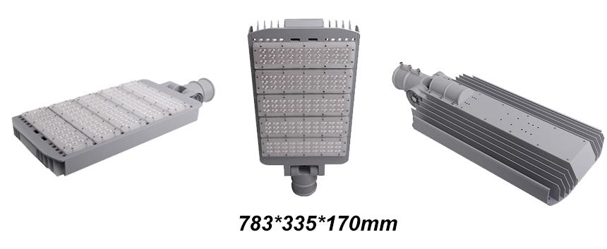 240W Adjustable IP65 Philips 3030 LED Street Lights size