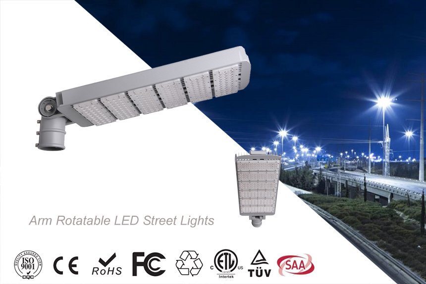LED Street Lights 300W Rotatable Heads
