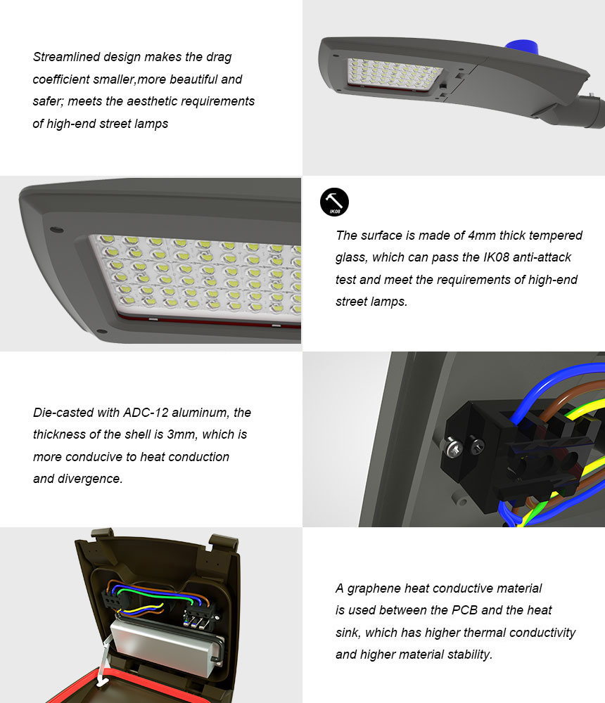 120W LED Street Light specification