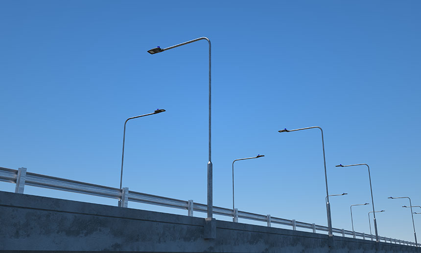 200W LED Street Light Head application