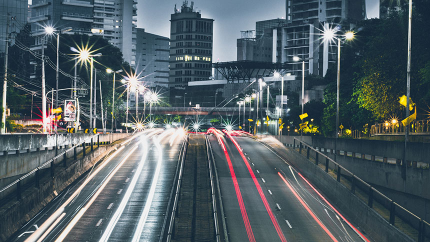 200W LED Street Light Head application