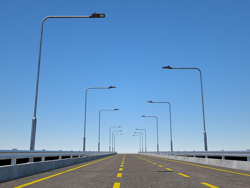 120W LED Street Light application