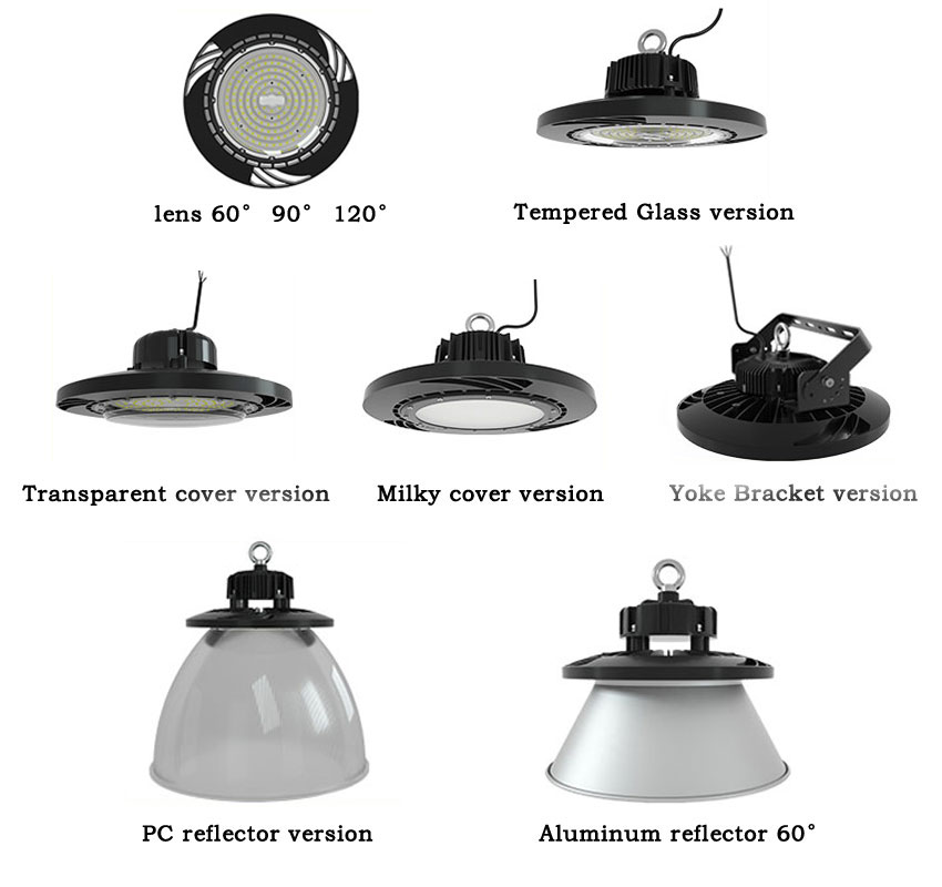 130lm/w 100w hurricane ufo led high bay barn Warehouse light other options