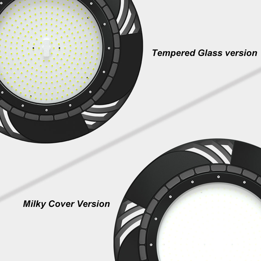 150lm/w 240w hurricane ufo led high bay light other lens options