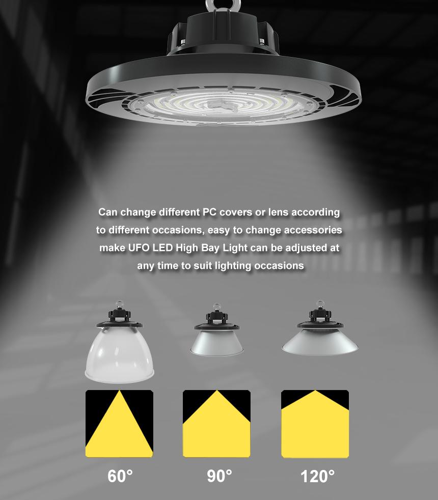 130lm/w 100w hurricane ufo led high bay barn Warehouse light beam angle