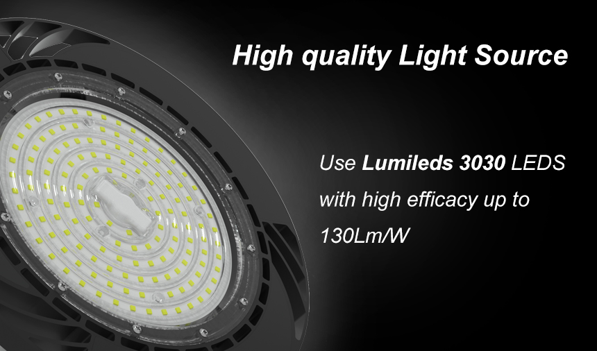 130lm/w 150w ufo led high bay light light source