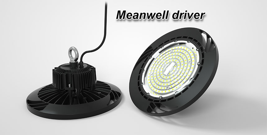 130lm/w meanwell driver ce rohs 100w ufo led high bay light
