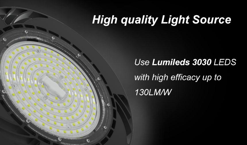 130lm/w 240w etl dlc tuv ce cb saa rohs lm79 ufo led high bay light light source