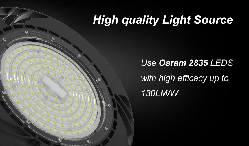 200w 130lm/w daermay driver ce rohs ufo led high bay light light source