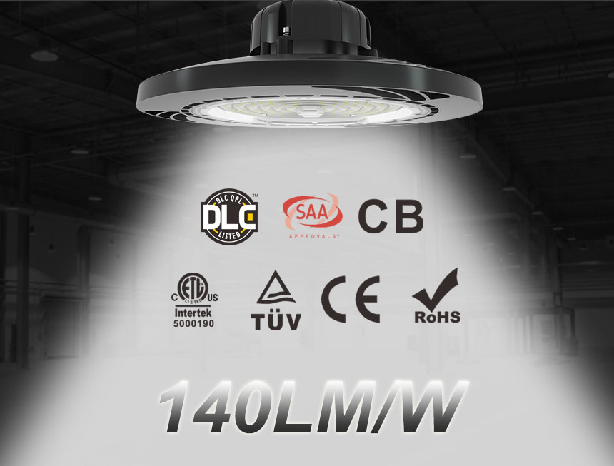 140lm/w 200w meanwell driver lumileds 3030 ufo led high bay light
