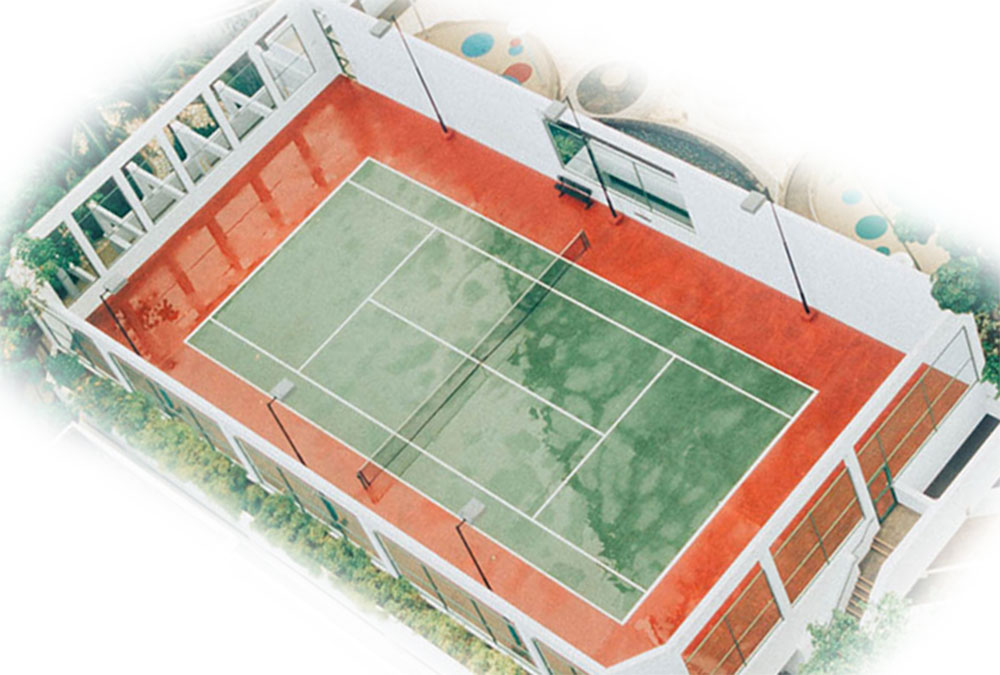 led tennis court light application