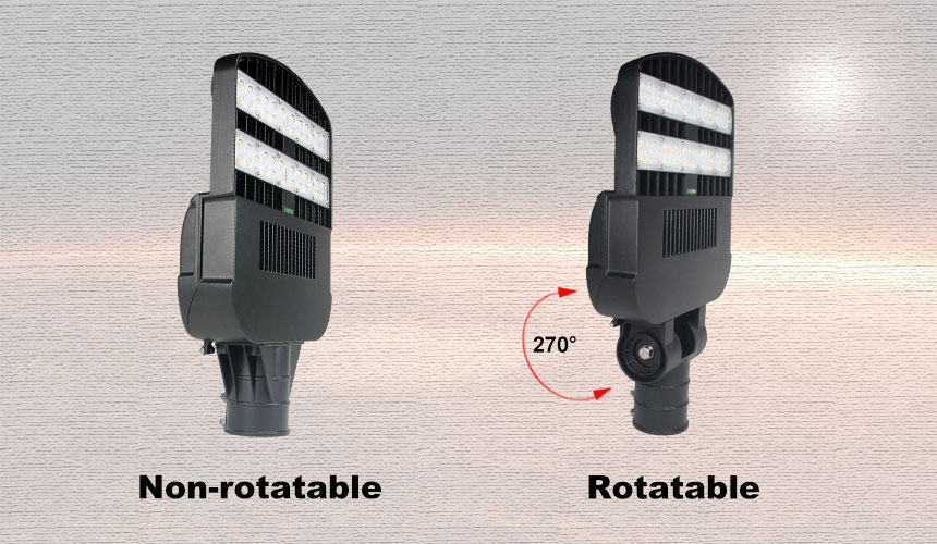 non-rotatable and rotatable 120w 16800lm venus led street light show