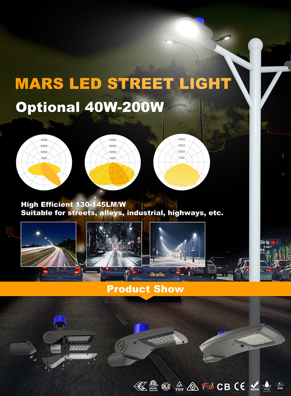 2020 new style led street light show and introduction