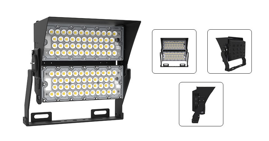 200w led high pole light with  Anti-glare accessories