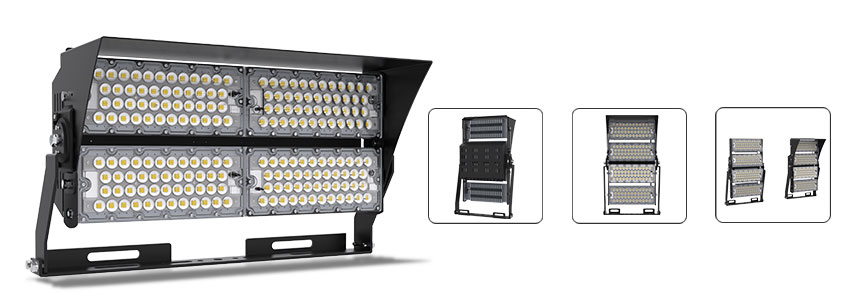 480w High Pole LED Flood Lights with anti-glare accessories