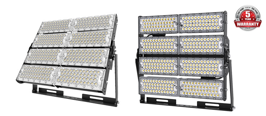 Outdoor Commercial 960W Industrial LED high mast Flood Lights show