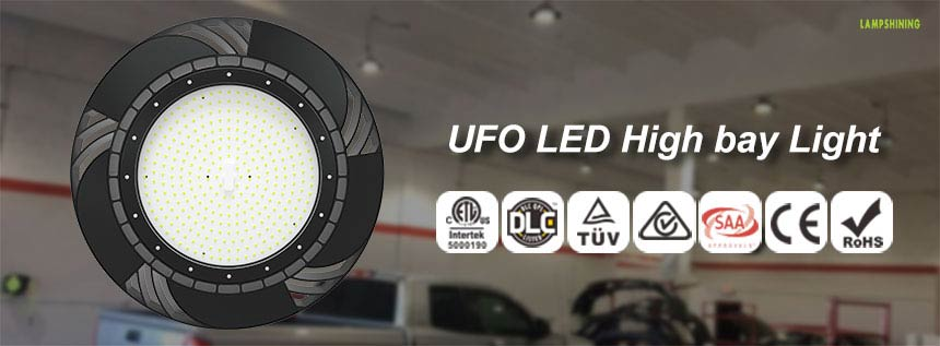 130lm/w 240w ufo led high bay light certification