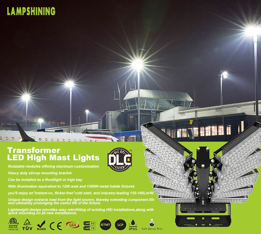 1000w led stadium Flood high mast Lights