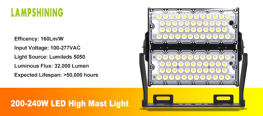 200W LED high mast lighting fixtures