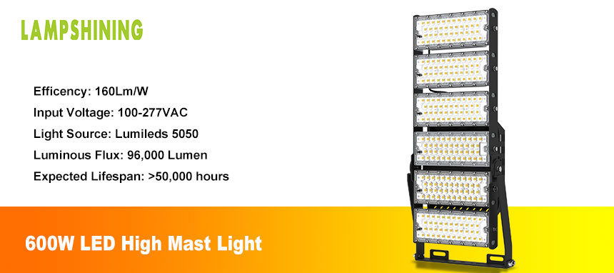 600w outdoor led sport flood light show