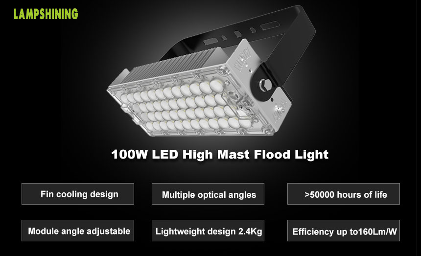 100w TUV DLC LED Stadium Flood Lighting,Sports Light