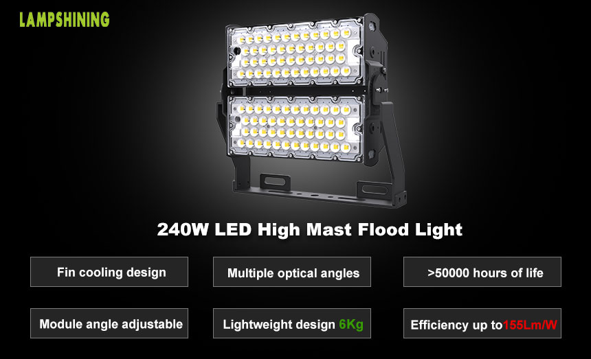 LED Flood Light For High Mast - 240w Outdoor LED Lighting