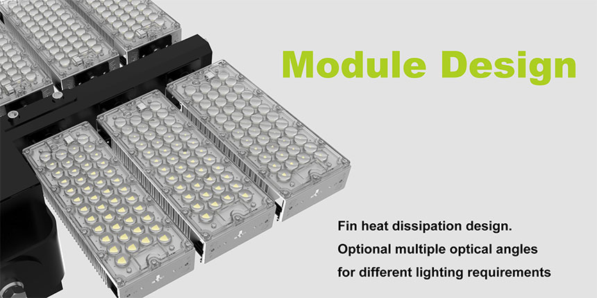 720W LED High Mast pole flood Light module design