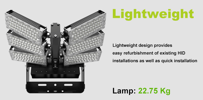 720W LED High Mast pole flood Light lightweight design