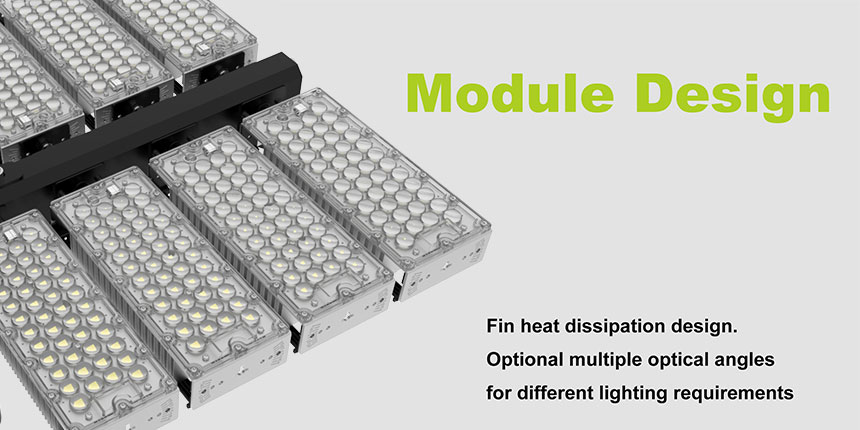960W 100-277VAC LED Stadium High Pole Lights Fixture module design