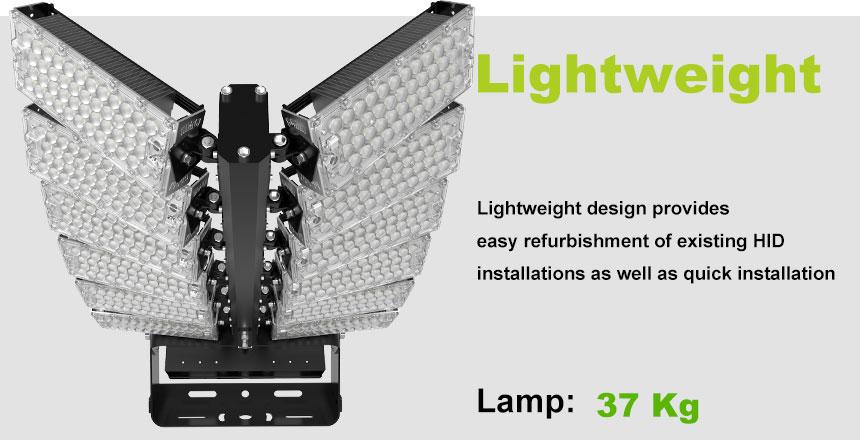 1440w LED Large field stadium high mast Light lightweight design