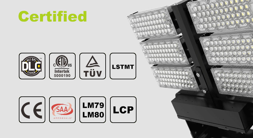 720W LED High Mast Pole Light certified