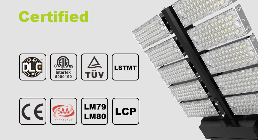 1000w Lightweight Stadium DLC LED Flood light Certified