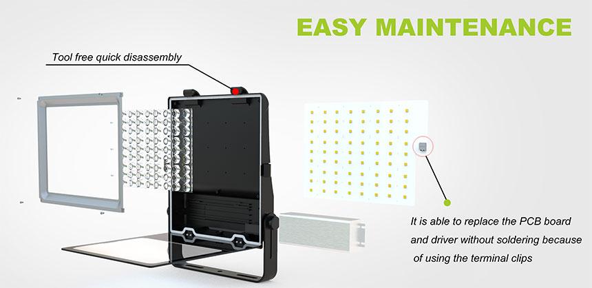 100w led flood light Easy maintenance design