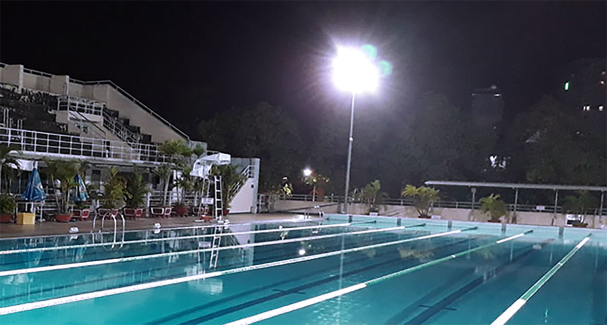 outdoor swimming pool led pole light