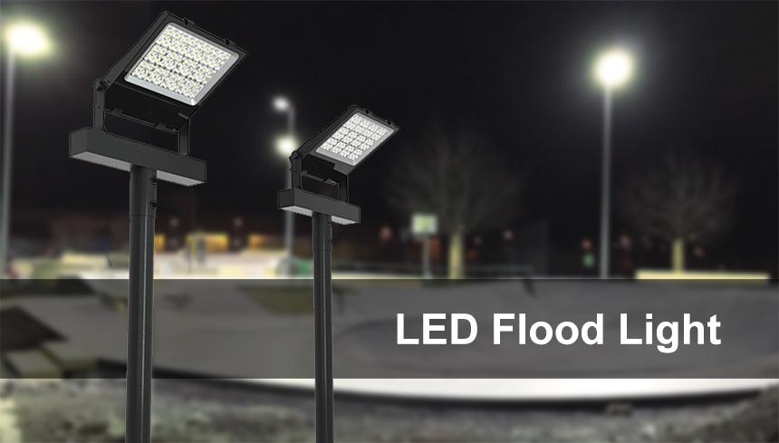 100 Watt LED Pole Mounted Flood Light