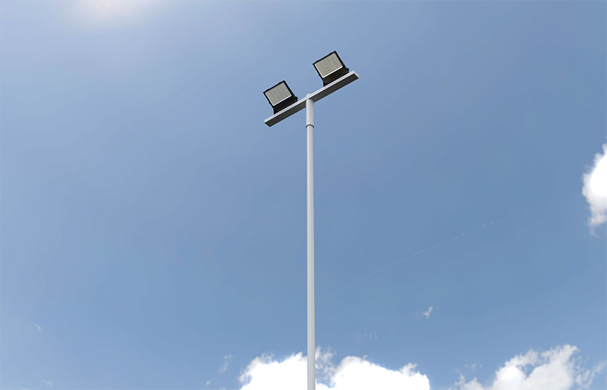 pole mounted stadium floodlight