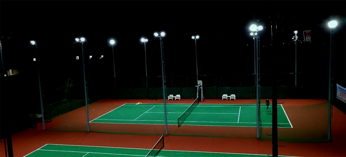 tennis court lighting