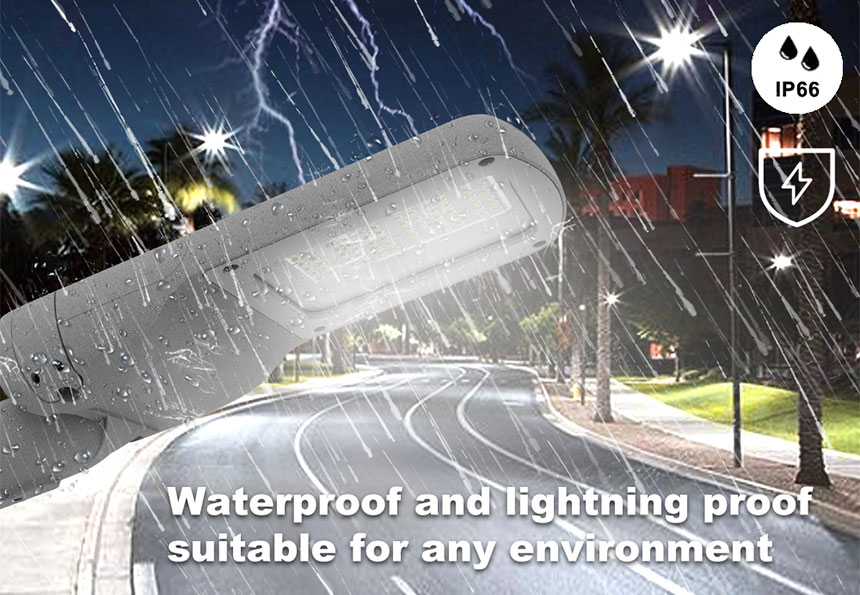 60w led street area light fixtures waterproof ip66 and lightning proof function