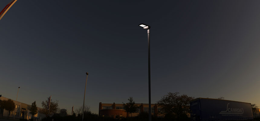 60w led street area lighting