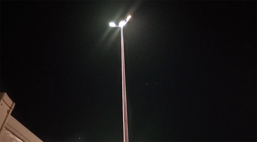 720w led high mast pole light fixtures application