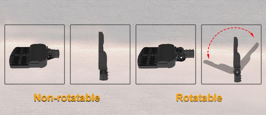 non-rotatable and rotatable 80w 12000lm venus led street light