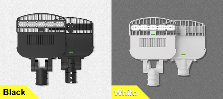 60w venus led street light can choose black and white two colors