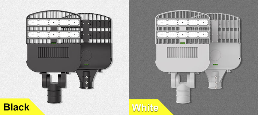 120w 140lm/w venus led street light can choose black and white two colors