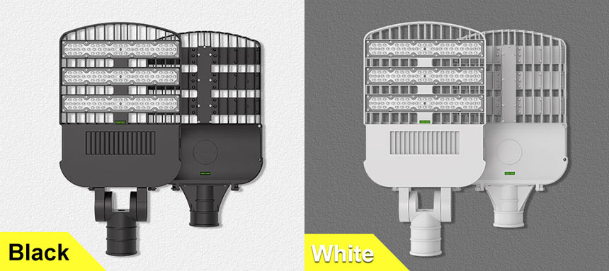 120w 150lm/w led street light can choose black and white two colors
