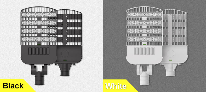 200w led street lights can choose black and white two colors