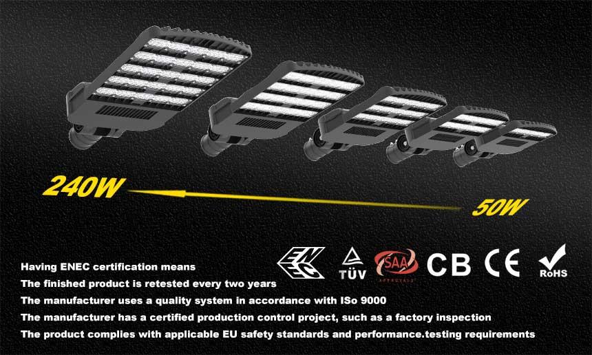 venus series led street lights certification